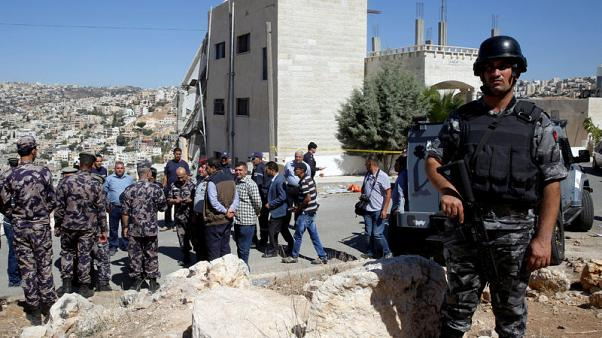 Four security members, at least three militants, killed in Jordan shoot out