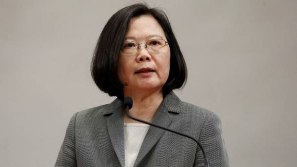 No one can 'obliterate' Taiwan's existence, president says on departure for U.S.