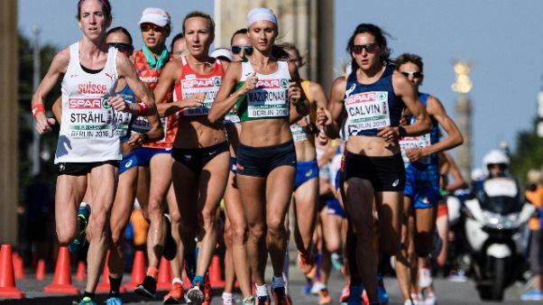 Europei atletica:maratona alla Mazuronak