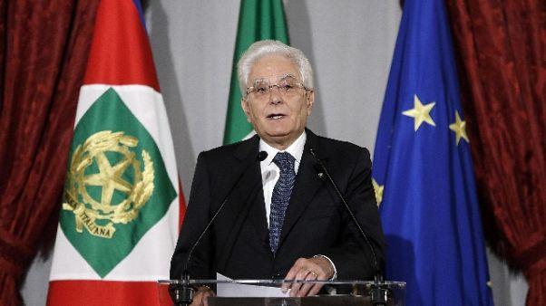 Mattarella, difendere diritti da minacce