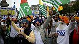 Manifestation de Sikhs à Londres pour l'indépendance du Pendjab
