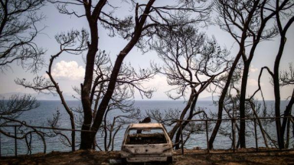 Evacuations sur l'île grecque d'Evia en proie à des incendies