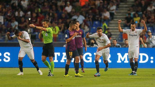 استخدام حكم الفيديو المساعد لأول مرة في كرة القدم الاسبانية