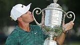 Golf: Koepka 2e du classement mondial, Woods 26e