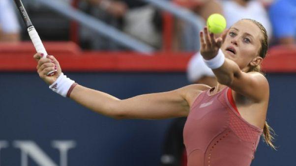 La Française Kristina Mladenovic au tournoi de Montréal le 7 août 2018