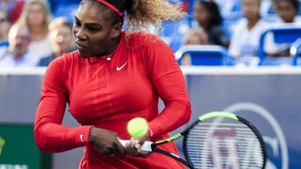 Cincinnati, Serena Williams parte bene