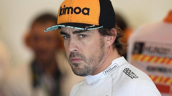 F1: Alonso lascia, nel 2019 non correrà