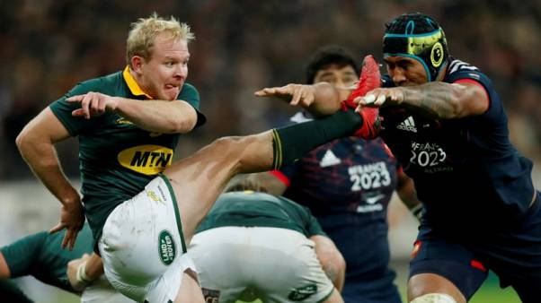 Rugby - Boks bank on right mix at the back of the scrum