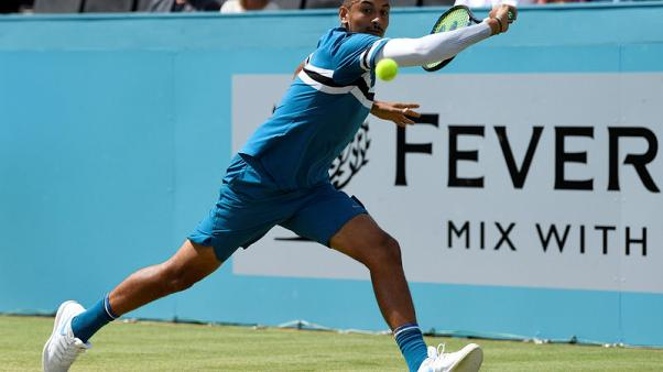 Tennis - Sock-A-Bye Baby as Kyrgios forgets footwear before first-round win