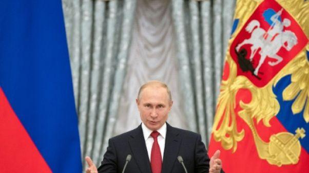 Le président russe Vladimir Poutine, le 28 juillet 2018 à Moscou