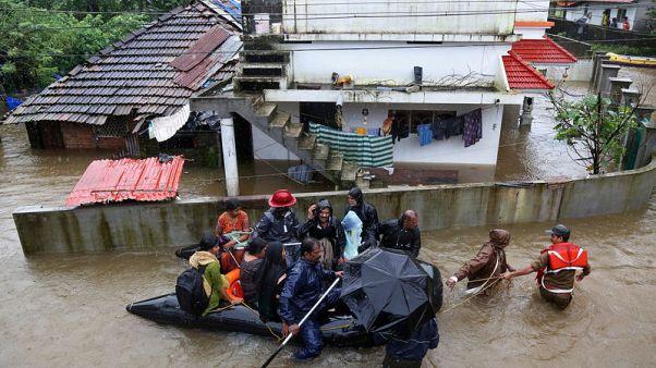 مقتل 43 في ولاية كيرالا الهندية في أسوأ فيضانات تشهدها منذ مئة عام