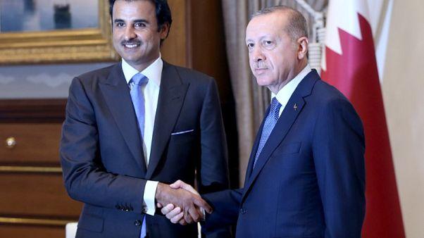 مكتب أردوغان: أمير قطر يتعهد باستثمارات مباشرة بقيمة 15 مليار دولار في تركيا