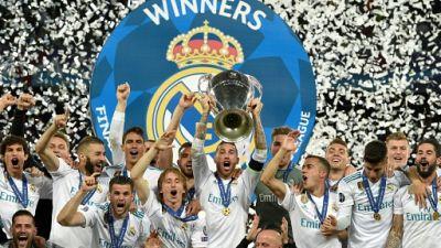 Le Real Madrid, vainqueur de la Ligue des champions, le 26 mai 2018 à Kiev