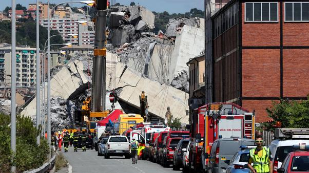 Italian police say 38 died in Genoa bridge collapse