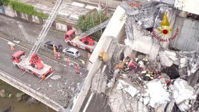Les recherches se poursuivent dans les décombres du pont de Gênes