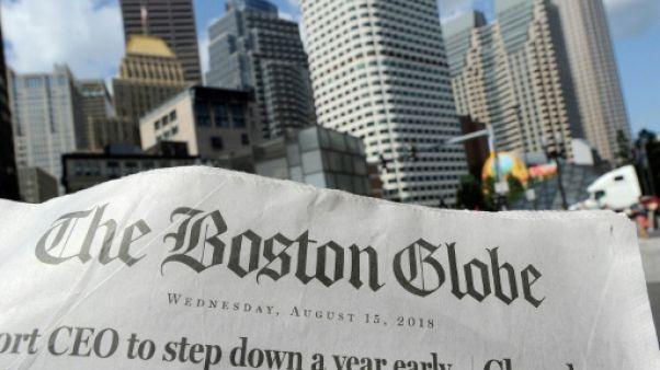 Edition du 15 août 2018 du quotidien The Boston Globe