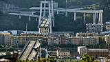 Le pont Morandi effondré à Gênes, le 15 août 2018