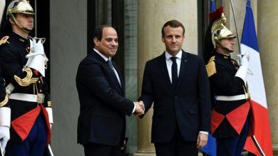 """Macron et Al-Sissi soulignent """"l'urgence d'une désescalade"""" à Gaza"""