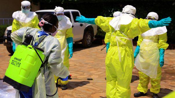No handshakes, no helmets in eastern Congo city preparing for Ebola