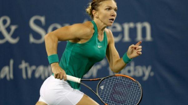 La Roumaine Simona Halep lors du tournoi de Cincinnati, le 15 août 2018