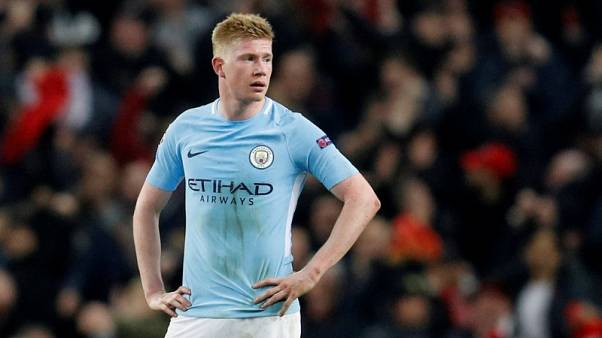 Man City's De Bruyne out for three months with knee injury