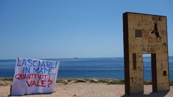 Protesta del Forum Lampedusa solidale