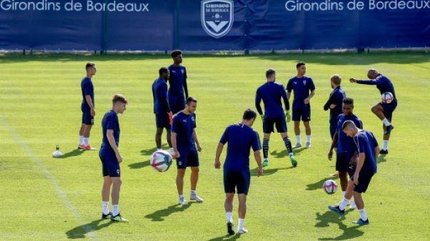 Les Girondins de Bordeaux à l'entraînement, le 17 août 2018 au Haillan