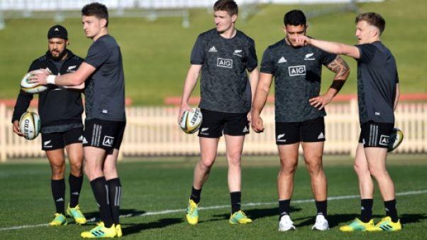 Les joueurs néo-zélandais à l'entraînement, le 17 août 2018 à Sydney