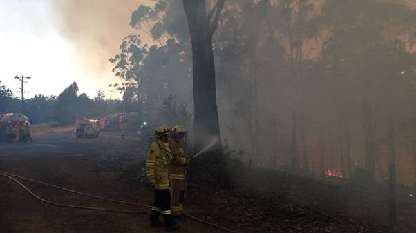 Strong winds stoke bushfires on Australia's east coast