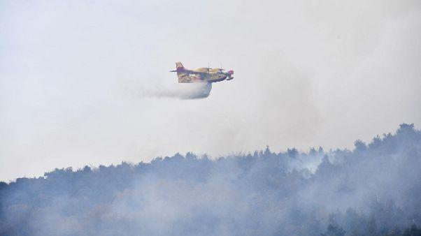 Ancora fiamme in boschi Alto Garda