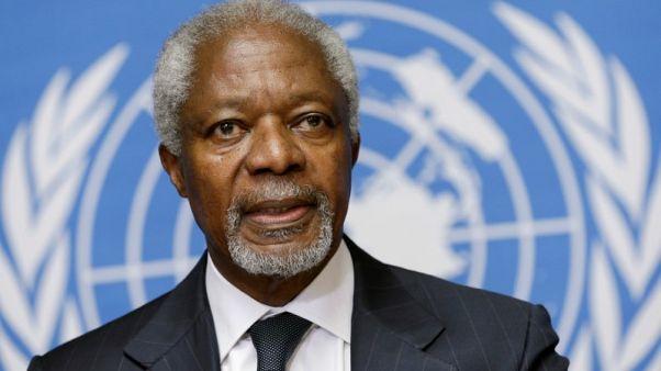 رحيل كوفي عنان الأمين العام السابق للأمم المتحدة عن 80 عاما