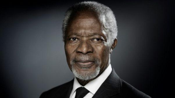 L'ancien secrétaire général de l'ONU Kofi Annan à Paris le 11 décembre 2017