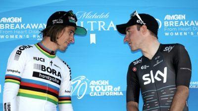 Peter Sagan 2e du Tour de Californie et Elia Viviani 3e le 14 mai 2017