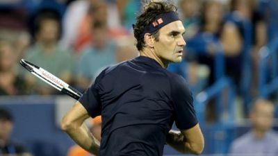 Roger Federer lors du tournoi de Cincinnati le 17 août 2018