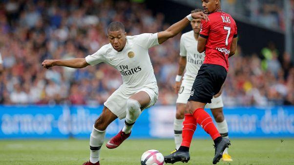 Mbappe brace secures comeback win for PSG at Guingamp