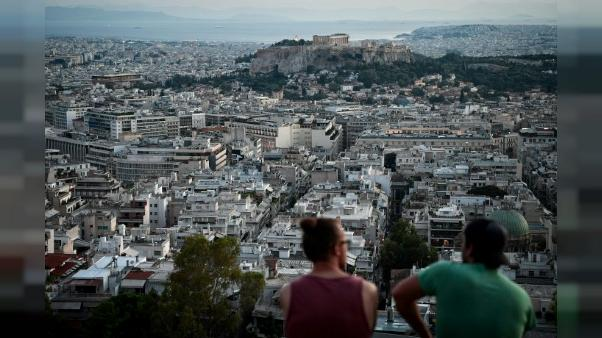 Vue depuis une colline d'Athènes, le 8 août 2018
