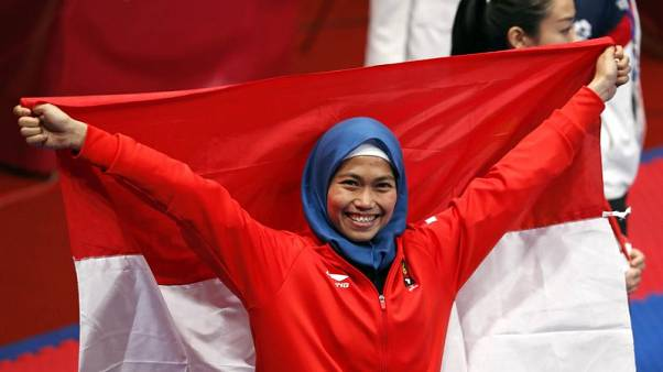 Rosmaniar wins Indonesia's first gold, and social media