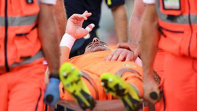 Chievo goalkeeper suffered broken nose in collision with Ronaldo