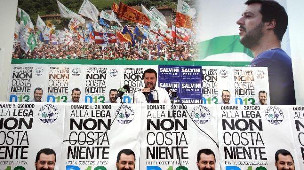 Imbrattata sede Lega Bergamo