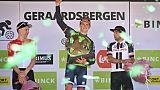Le Slovène Matej Mohoric (c) vainqueur du BinckBank Tour le 19 août 2018