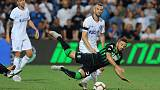 Dzeko's stunning volley gives Roma last-gasp win