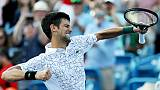 A Cincinnati, Djokovic s'offre un titre historique face à Federer