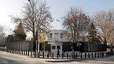 اعتقال رجلين بعد إطلاق الرصاص على سفارة أمريكا في أنقرة