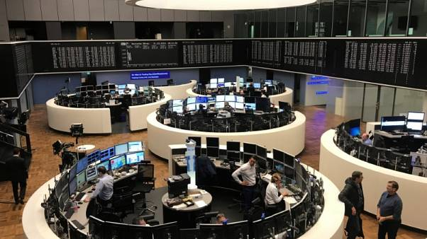 European shares gain on optimism over U.S.-China trade row