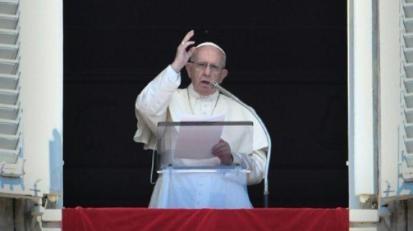 Le pape François lors de la prière de l'angelus le 19 août 2018 au Vatican