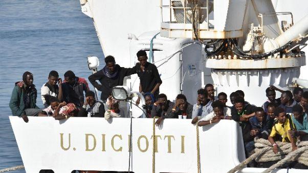 Nave Diciotti arrivata in porto Catania