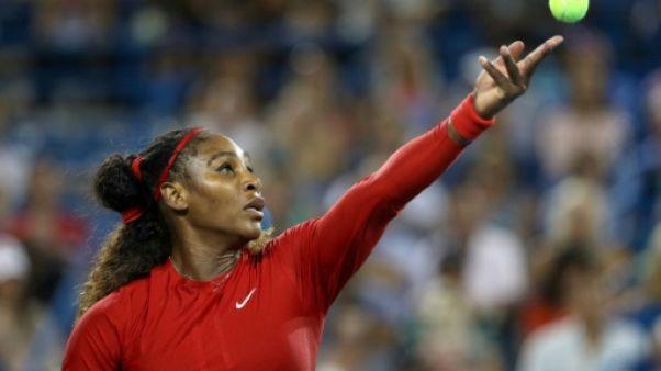 Serena Williams lors du tournoi de Cincinnati, le 14 août 2018