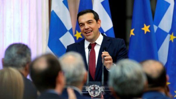Le Premier ministre grec Alexis Tsipras à Athènes, le 22 juin 2018