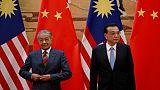 La Malaisie annule 22 milliards de dollars de projets signés avec Pékin