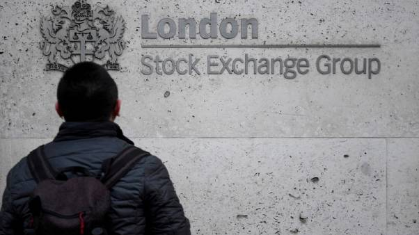 FTSE-100 edges up as trade talk anxiety boosts defensives